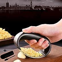 Multi-function Manual Garlic Press Curved Garlic Grinding Slicer Chopper Stainless Steel 304 Garlic Presses Cooking Gadget...