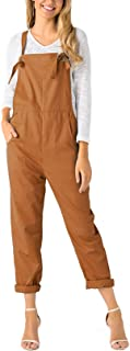 Fashion Overalls for Women Bib Baggy Dungaree Square Neck Adjustable Strap Rompers Jumpsuits