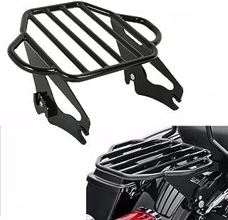 TCMT Gloss Black 2-Up Luggage Rack Mount Fits For Harley Davidson Touring Models 2009-2020
