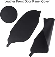 cciyu Front Door Panels Armrest Black Leather Door Panels Armrest Covers Replacement fit for 2008-2012 Honda Accord Sedan 1 Pair(Left + Right)