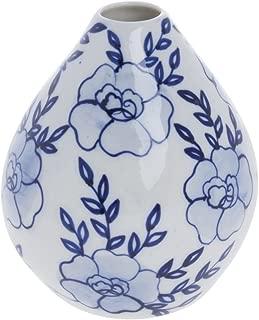 Porcelain Bud Vase Blue and White - 4