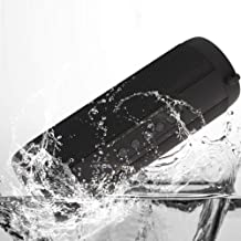 IPX5 Waterproof Portable Bluetooth Speaker with FM Radio, HiFi Enhanced Bass Superior Sound, Flash Light, TF Card, Built-in Mic ireless Speakers for Outdoor Party