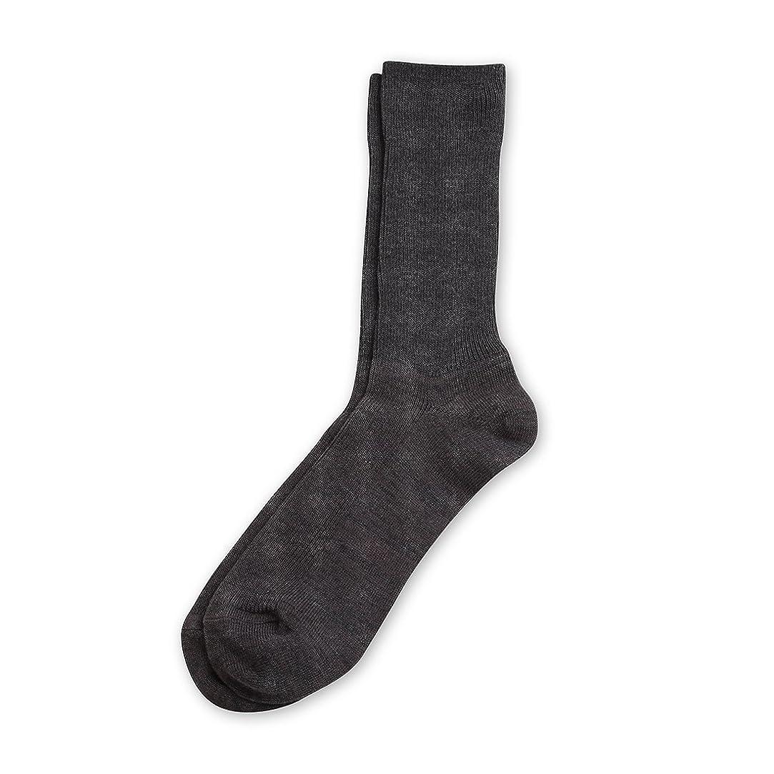 みぞれ資源ポンペイDeol(デオル) レギュラーソックス 男性用 メンズ [足のニオイ対策] 長期間持続 日本製 無地 靴下 グレー 25cm-27cm