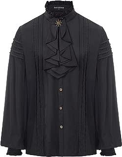 Mens Renaissance Costume Shirt Medieval Steampunk Pirate Tops