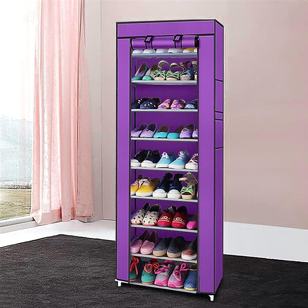 Mekek Shoe Free shipping on posting reviews Rack Closet Max 63% OFF 9 Organizer Ro Portable Tier -