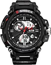 Men's Sports Watch, Outdoor Multi-Functions Military Waterproof Digital Watch with Dual-time Display