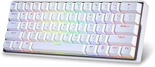 KEMOVE ゲーミングキーボード Bluetooth 5.1 無線 / 有線 ホットスワップ可能 メカニカルキーボード PBTダブルショット キーキャップ 61キー プログラム可能 3000 mAhバッテリー 内蔵 60%キーボード 20種点...