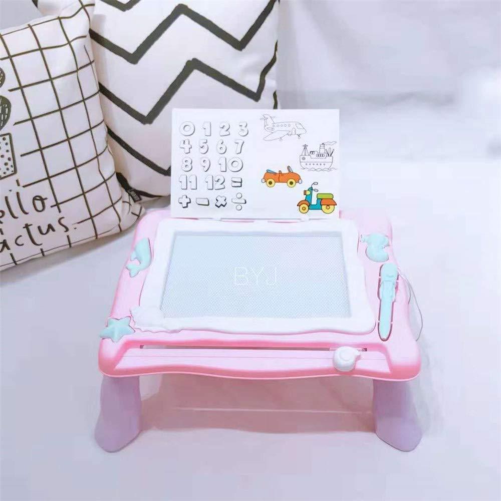 Juguetes de juegos de mesa de dibujo Tablero de dibujo magnético con un soporte Tablero de garabatear borrable Garabatos coloridos Tablero de escritura Juguetes de aprendizaje para niños (azul, rosa): Amazon.es: Hogar
