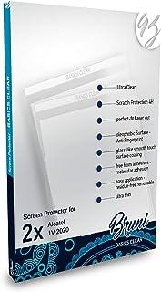 Bruni Skärmskydd är kompatibel med Alcatel 1V 2020 Film, kristallklart Skyddsfilm (2X)