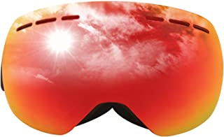Aooaz Borderless Anti Fog And Windproof Ski Glasses Large Spherical Warm Snow Mirror