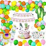 MMTX Decoraciones de Cumpleaños, Alpaca Cumpleaños Globos Helio Globos Feliz Cumpleaños Banner Globo de Cactus 8 pcs Globo Alpaca Impreso para Ceremonias de Graduación, Aniversarios, Baby Shower