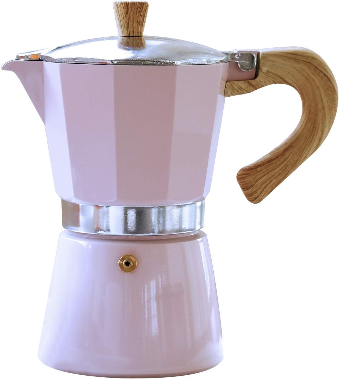 Gnali & Zani VEZ006/IND/PINK Venezia - Cafetera de espresso, color rosa, 6 tazas, cafetera expreso de aluminio