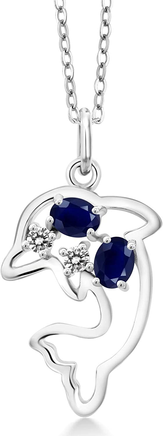 Gem Max 88% OFF Stone King 925 Sterling Deluxe Silver Sapphire Blue White Diamo and