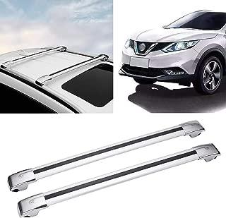 Autoxrun Black Car Cross Bars Top Luggage Roof Rack Lockable Fit 2016-2018 Nissan Qashqai