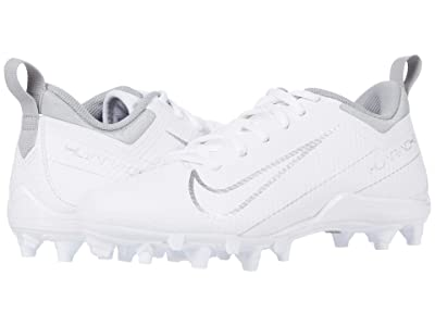Nike Kids Alpha Huarache 7 Lacrosse (Little Kid/Big Kid) (White/Metallic Silver) Kids Shoes