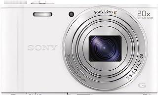 Sony DSC-WX350  Cámara compacta de 18.2 Mp (pantalla de 3 zoom óptico 20x estabilizador vídeo Full HD) blanco