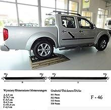 Spangenberg Listones de protección Lateral, Color Negro, para Nissan Navara Double Cab de Doble Cabina a Partir de Facelift año de construcción 2007 – F46 (370004602)