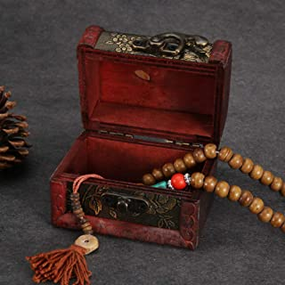 Wooden Tool Box Wooden Jewelry Box, Decorative Wooden Box Durable Small Wooden Box, for Candy Jewelry