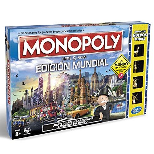 Monopoly, edición Mundial, Multicolor (Hasbro B2348546)