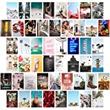 Wall Collage Kit Aesthetic Pictures, Bedroom Decor for Teen Girls, Wall Collage Kit, Collage Kit for Wall Aesthetic, VSCO Girls Bedroom Decor, Aesthetic Posters, Collage Kit (50 PCS 4x6 inch)