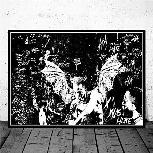 Puzzle 1000 piezas Álbum de música rapero cantante estrella puzzle 1000 piezas paisajes Rompecabezas de juguete de descompresión intelectual educativo divertido juego familiar50x75cm(20x30inch)