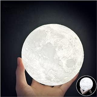 HaloVa WCH8141 Night Light 3D Printing Moon Lamp, Lunar USB Charging Night Light, Touch Control Brightness Two Tone