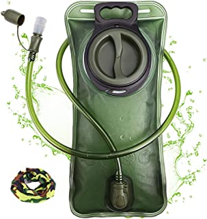 Hydration Bladder 2 Liter Leak Proof Water Reservoir, Military Water Storage Bladder Bag,..