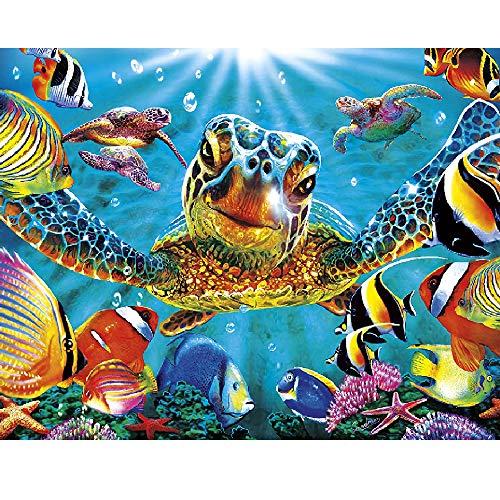 Puzzle de 1000 Piezas Para Adultos,「Grande Tortuga marina」,Materiales Reciclables de Primera Calidad y Rompecabezas de Impresión de Alta Definición,Juego,Formación de Equipos,Regalos para amigos.
