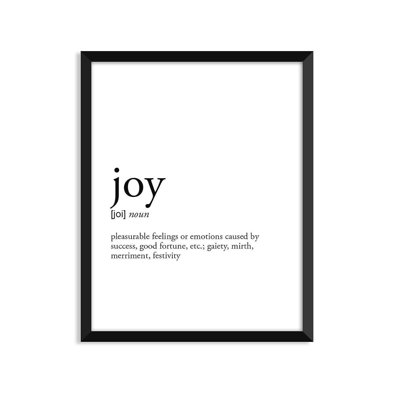 Joy definition - Unframed art Super special price greeting Bargain print or card poster