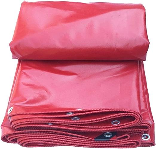 YANGJUN Bache Ombres écran Solaire Imperméable Serre étanche à La Poussière De Plein Air PVC, 0,32 Mm D'épaisseur (Couleur   rouge, taille   3.8X5.8M)