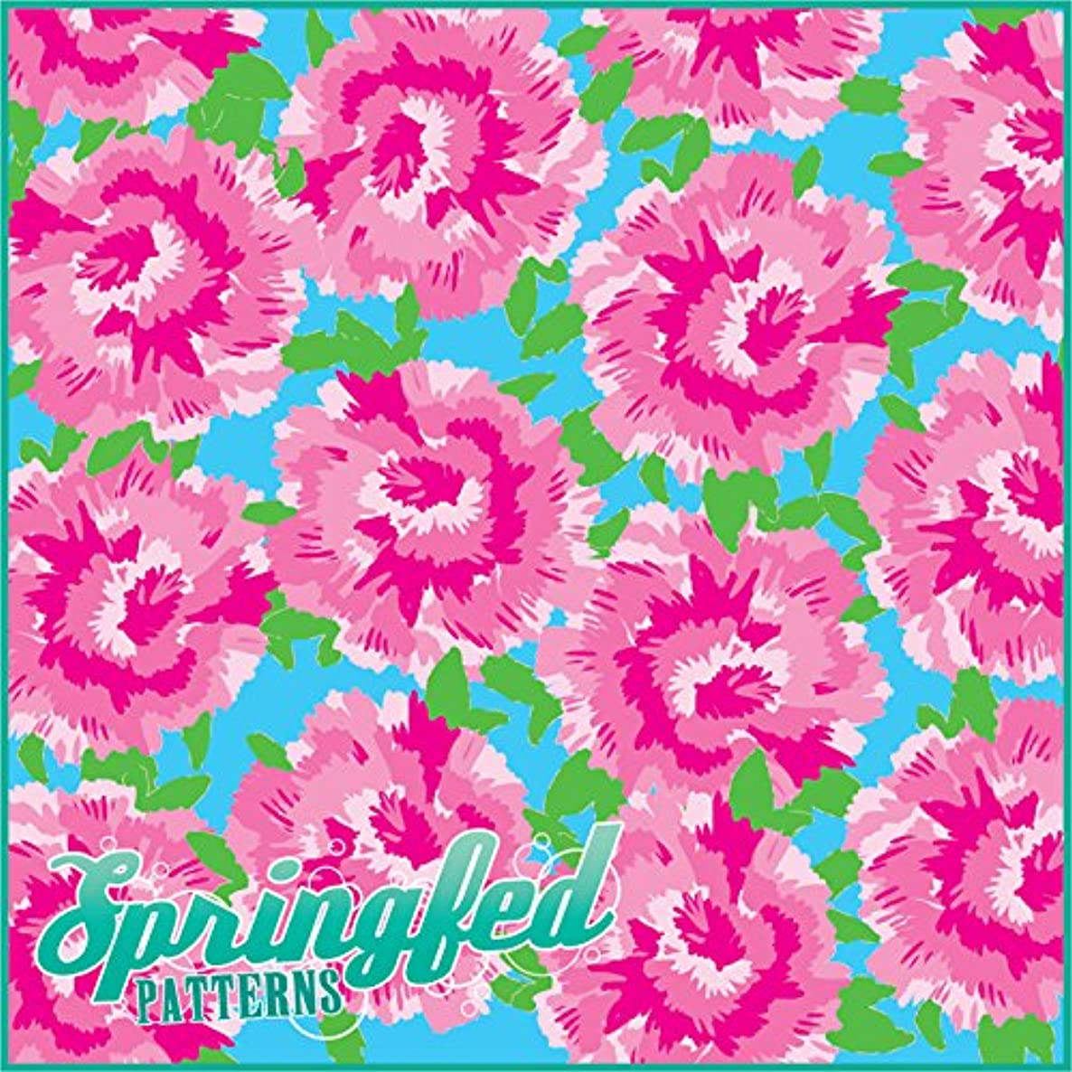 LP Inspired PINK CARNATIONS PATTERN Craft Vinyl 3 Sheets 6x6 for Vinyl Cutters A