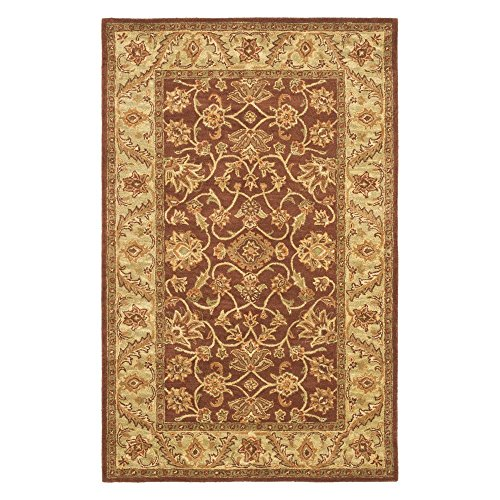 Safavieh Golden Jaipur Collection GJ250E Handmade Rust and Green Premium Wool Area Rug (2' x 3')