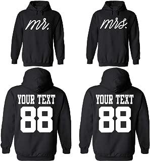 mr and mrs personalised hoodies