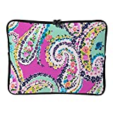Wildflower Paisley Boho Pattern 17 Inch Protective Laptop Sleeve Ultrabook Notebook Carrying Case Compatible with MacBook Pro MacBook Air Tablet Briefcase Bag