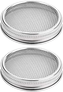Patio,Lawn Garden Garden Supplies,Sprouting Lids Sprouting Jar Strainer Lid For 86mm Wide Mouth Mason Jars Stainless Steel Germination Cover Germination Tank Filter 2pcs
