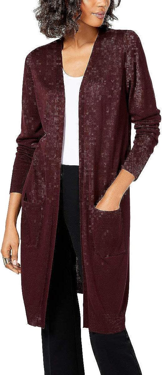 Alfani Womens Midi Knit Cardigan Sweater