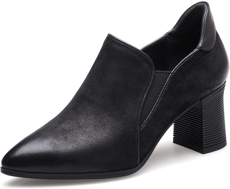 Volles Leder Leder Frühling Rauh Mit Schuhe Leder Spitz Einzelne Schuhe Europa Und Die Vereinigten Staaten High Heels  Online-Rabatt