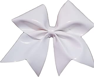 Cheer Bows White Holographic Vinyl Autograph,Write on Signature Hair Bow