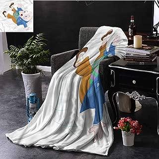 EDZEL Comfortable and Warm Beach Blanket Alice in Wonderland Humpty Dumpty Home Sofa Bedding Office Car Blanket 72x54 Inch