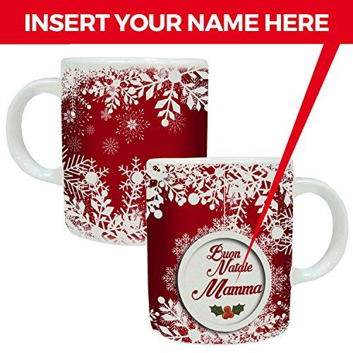 MP CREATIVE SRL Tazza Mug Natalizia Natale Personalizzata con Nome