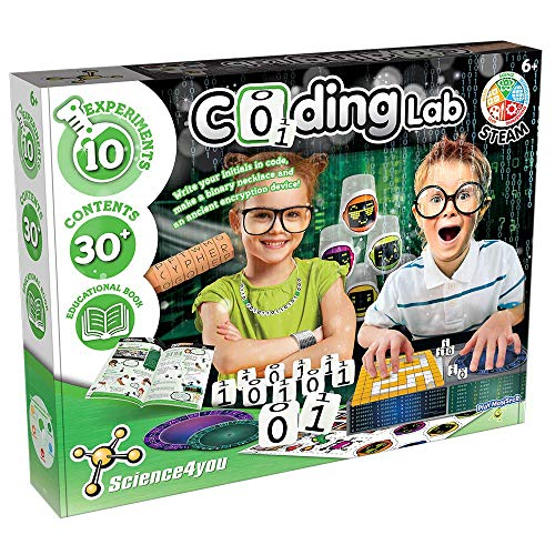 PlayMonster Science4you -- Coding Lab -- 10 Experiments to Learn How to Code -- Fun, Education Activity for Kids Ages 6+