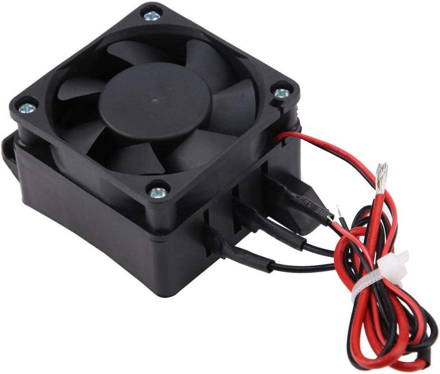 LANTRO JS - Calentador de aire para automóvil PTC, 12V / 24V 300W / 400W, Calentador de ventilador de automóvil para espacios pequeños, Calentadores de temperatura constante(24V 400W)