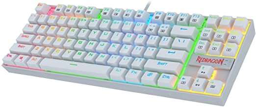 Redragon K552 Mechanical Gaming Keyboard 60% Compact 87 Key Kumara Wired Cherry MX Blue Switches Equivalent for Windows PC...