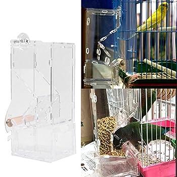 TOOGOO mangeoire automatique nourrisseur pour animaux de compagnie cage d'oiseau de compagnie recipient de nourriture nourrir perroquet mangeoire automatiques