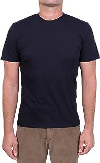 MAJESTIC FILATURES MOD. M537-HTS022 - Camiseta de cuello redondo de algodón Silk Touch para hombre, azul