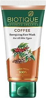 Biotique Coffee Energizing Face Wash 150ml | Purifies Skin, Unclog Pores | Paraben & SLS Free