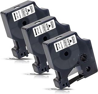 Pristar Nastro compatibile con DYMO 45010 S0720500 12mm 1//2mm per Dymo LabelManager 160 280 210D 360D 420P 450D LabelWriter 450 Turbo Wireless LabelPoint 250 150 100 6 Pack 45010 Nero su trasparente