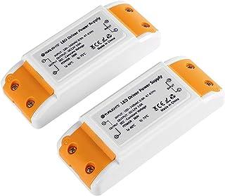 LED Transformer, YUNLIGHTS LED Power Supply - 36W, 12V DC Driver, 3A - Constant Voltage for LED Strip Lights and G4, MR11, MR16 LED Light Bulbs (2 Packs)