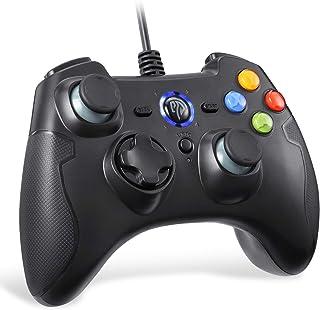 有線PS3/PCゲームパッド パソコンゲーミングコントローラー 連射・振動機能搭載 Windows/Android/PS3/TV Boxに対応(ブラック)