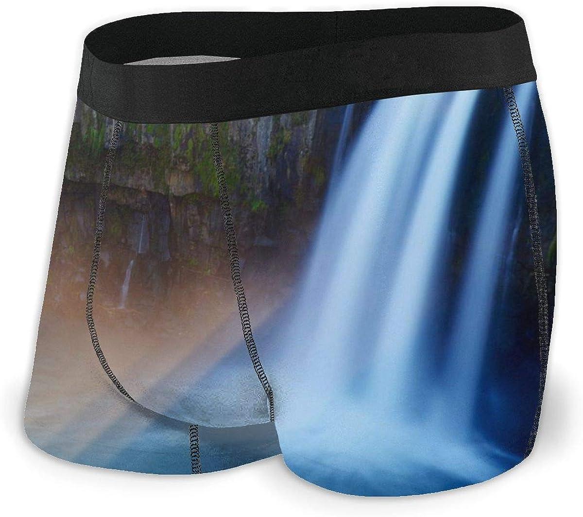 Randolph Wordsworth Mens Boxer Briefs Harajiri Waterfall Landscape Breathable Underwear